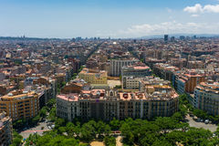 Aerial view of Barcelona Royalty Free Stock Image