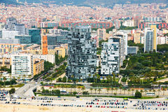 Aerial view of Barcelona. Sant Marti  Neighbourhood district Royalty Free Stock Image