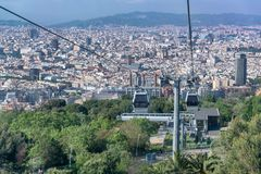 Aerial view of Barcelona, Spain royalty free stock photos
