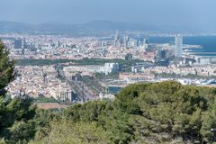 Aerial view of Barcelona, Spain Stock Photos