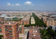 Aerial view of Barcelona, Spain Stock Photography