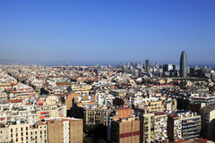 Aerial view of Barcelona, Spain Stock Images