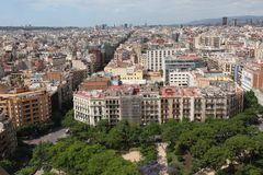 Aerial view Barcelona Royalty Free Stock Photos