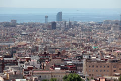 Aerial view Barcelona, Spain Royalty Free Stock Image