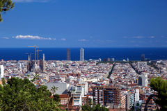 Aerial view of Barcelona, Spain Royalty Free Stock Photography