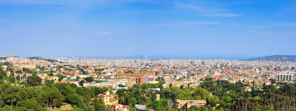 Aerial view of Barcelona, Spain stock photo