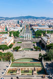 Aerial view of Barcelona, Spain Stock Image