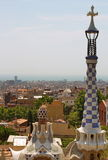 Aerial view of Barcelona Spain from Park Guell Stock Photography
