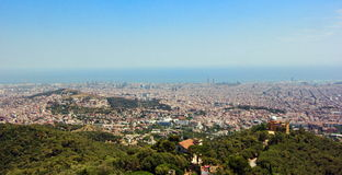 Aerial view of Barcelona Spain Stock Photos