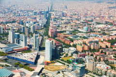 Aerial view of Barcelona, Spain Royalty Free Stock Image