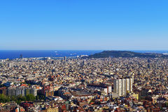 Aerial view of Barcelona, Spain Royalty Free Stock Images