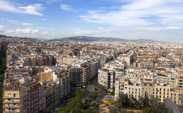 Aerial view of Barcelona Royalty Free Stock Images
