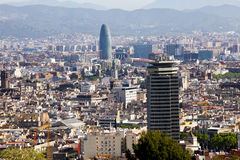 Aerial view of Barcelona Stock Photos