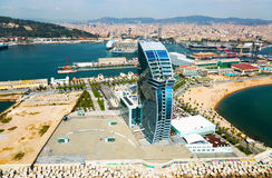 Aerial view of Barceloneta.  Barcelona Royalty Free Stock Image