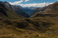 Aerial view of barren slopes in Southern Alps Stock Photos