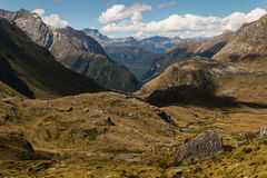 Aerial view of barren slopes in Southern Alps Stock Images