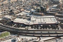 Aerial view at Basarab passage Royalty Free Stock Photo