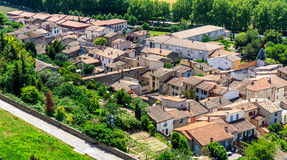 Aerial view of the base city of Carcassonne Royalty Free Stock Photography