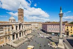 Aerial view of Basilica di Santa Maria Maggiore in Rome, Italy Stock Photography