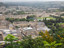 Aerial view of Bath stock images