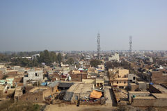 Aerial view of Hansi from Hansi fort Royalty Free Stock Photography