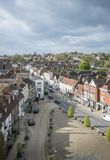 Battle High Street, Sussex, UK. Aerial view of Battle High Street, Battle, Sussex, England, UK Royalty Free Stock Photography