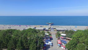 Aerial view of Batumi beach stock video