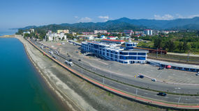Aerial view of Batumi central station Royalty Free Stock Photos