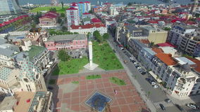 Aerial view of Batumi from flying drone stock video