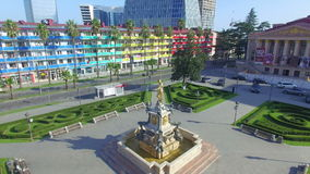 Aerial view of Batumi stock video footage