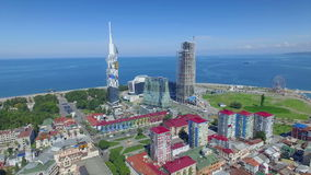 Aerial view of Batumi stock video