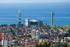 Aerial view of Batumi Royalty Free Stock Photography
