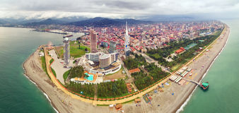 Aerial view of Batumi stock photo
