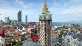 Aerial view of Batumi, Piazza square stock video footage