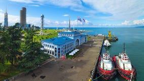 Aerial view of Batumi sea port Stock Photo