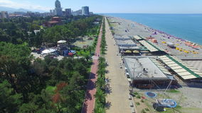Aerial view of Batumi seafront stock video