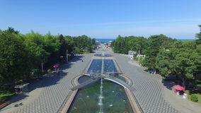Aerial view of Batumi seaside stock video footage