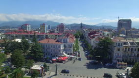 Aerial view of Batumi street stock footage