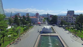 Aerial view of Batumi wedding palace stock video
