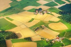 Aerial view of bavaria, germany. Aerial view of bavaria, german landcsape from top Stock Photography