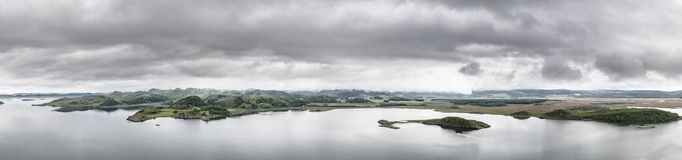 Aerial view of the bay around Duntrune Castle, Argyll. Scotland Royalty Free Stock Images