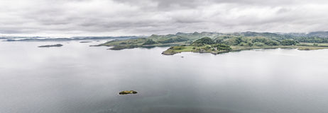 Aerial view of the bay around Duntrune Castle, Argyll Royalty Free Stock Photo