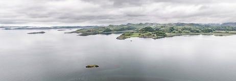 Aerial view of the bay around Duntrune Castle, Argyll. Scotland Royalty Free Stock Photo
