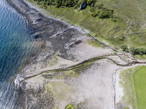 Aerial view of the bay called Camas nan Geall. Ardnamurchan, Scotland Royalty Free Stock Photos