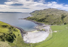 Aerial view of the bay called Camas nan Geall. Ardnamurchan, Scotland Stock Photos