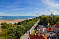 Aerial view bay of Gdansk Stock Images