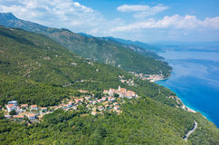 Aerial view on the bay Italy Stock Images