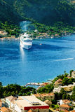 Aerial view of Bay of Kotor, Montenegro. Royalty Free Stock Photo