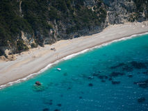Aerial view of The bay of Paleokastritsa in Corfu Stock Images