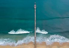 Aerial View of the Beach Stock Images